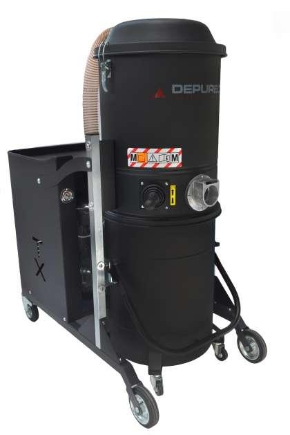 depureco tx300 ipari porszívó nagy teljesítmény antisztatikus foxer