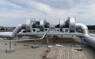 ipari ventilátor gyártás egyedi pódium csarnok légtisztítás foxer
