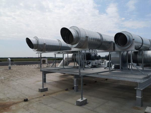 ipari ventilátor 30kw egyedi pódium csarnok légtisztítás foxer kft