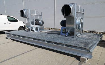 ipari ventilátor 30kw egyedi pódium foxer